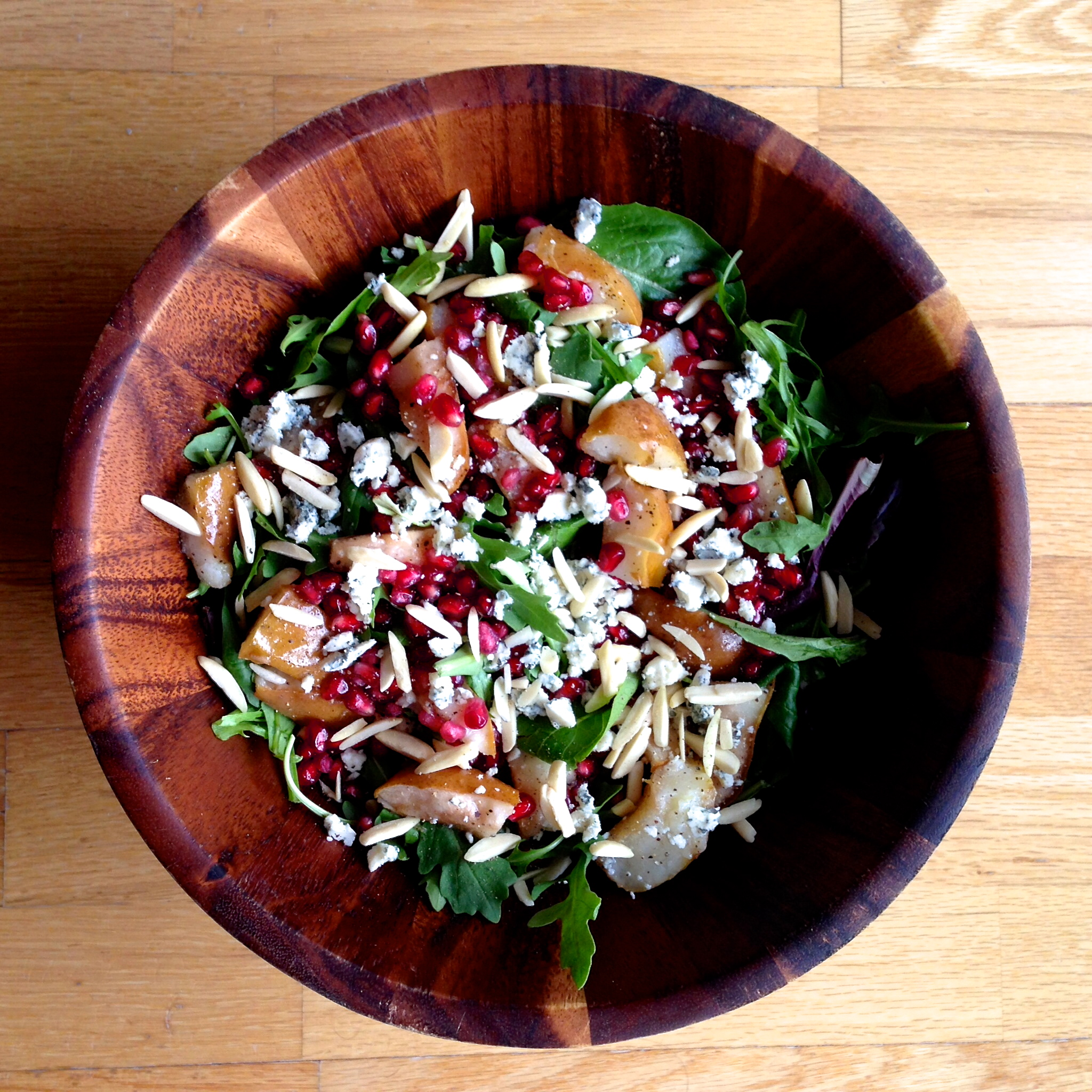 Fall Salad: Roasted Pear, Pomegranate, and Gorgonzola with Maple ...